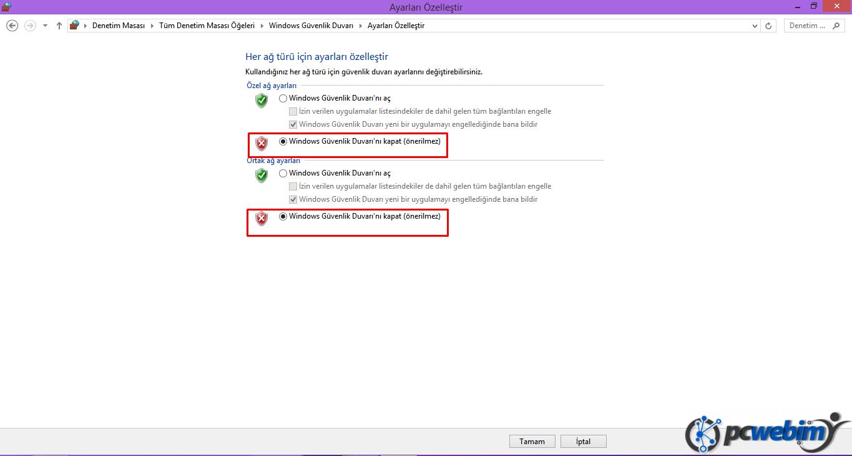 Windows Güvenlik Duvarı -3