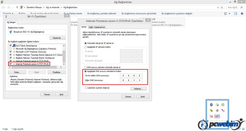 DNS Değiştirme -4