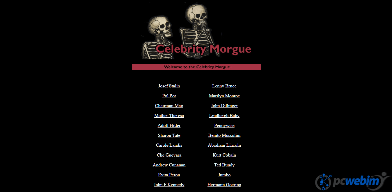 celebrity morgue